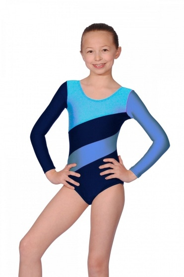 Hop Nylon/Lycra Long Sleeve Gymnastics Leotard