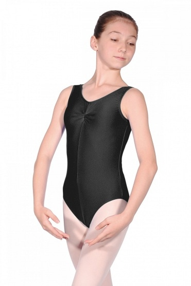 Sheree Ruched Nylon/Lycra Sleeveless Leotard
