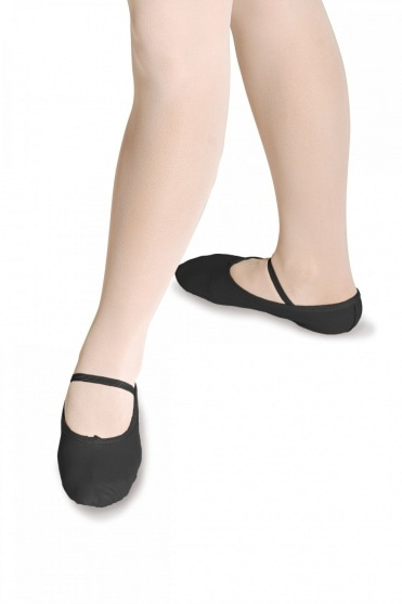 Full Sole Leather Ballet Shoes - Wide Fit