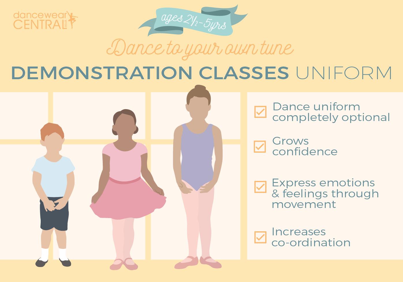 Demonstration Class Ballet Uniiform