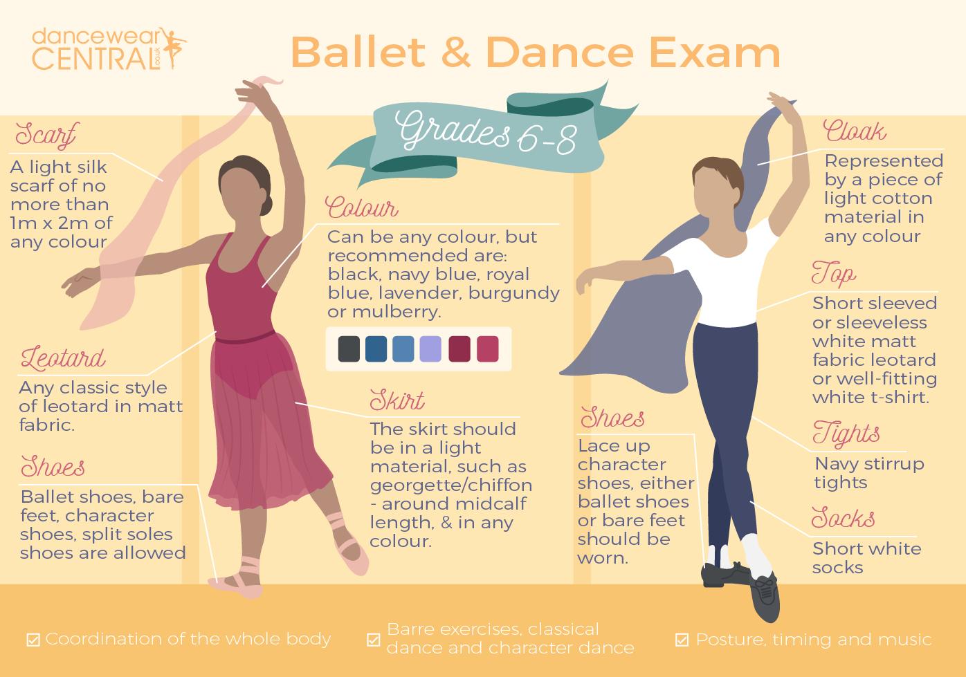 Ballet Exam grade 6-8 Uniform
