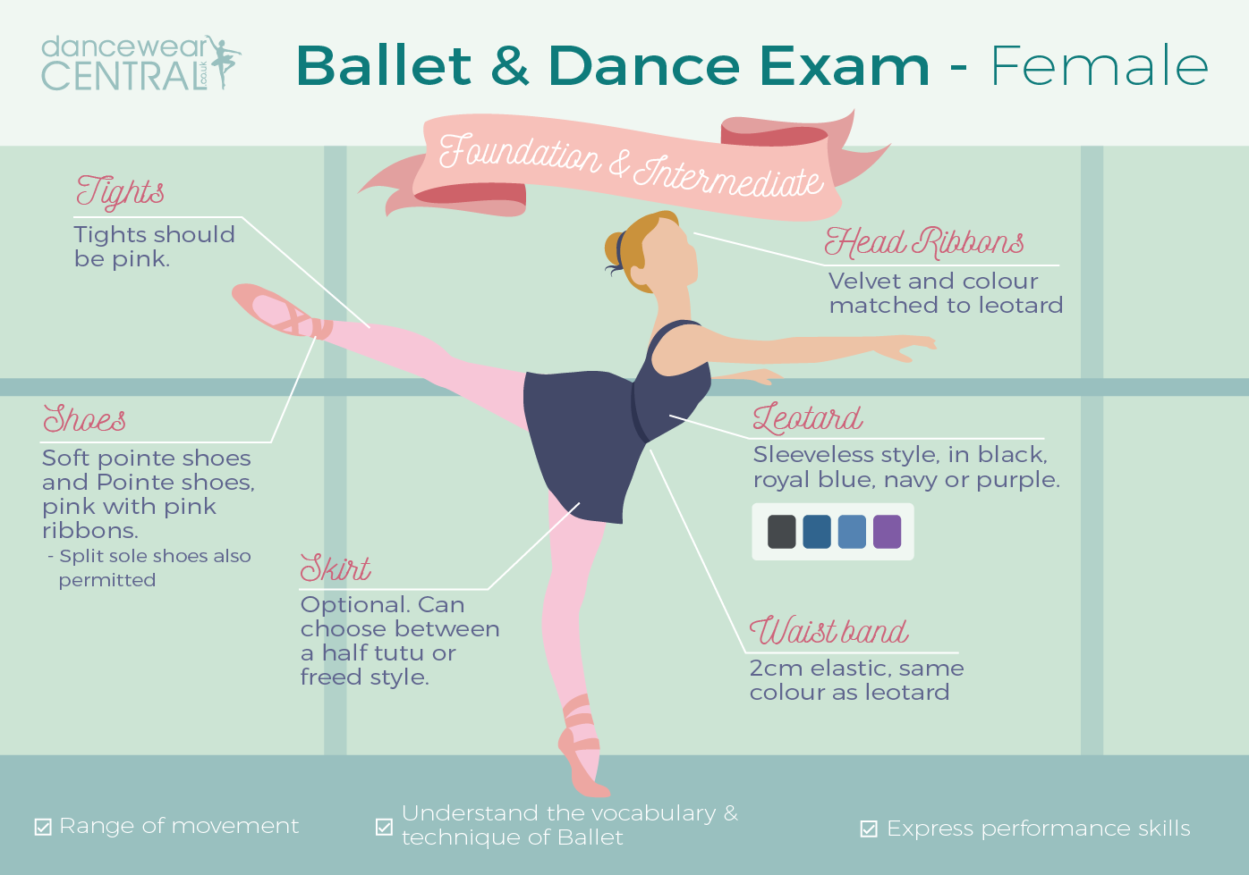 Female Ballet Dancer Uniform