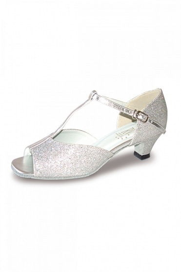 Aduo Silver Low Heel Ballroom Shoes