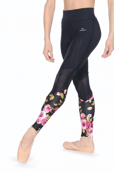 Angled Mesh Leggings Printed