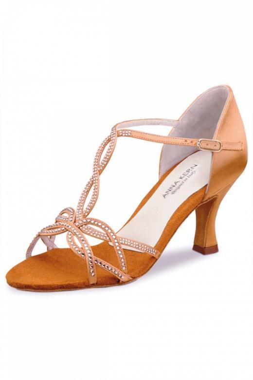 Anna Kern Satin Ladies' Ballroom Shoes with Diamante Detailing