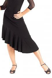 Asymmetric Ruffle Dance Skirt