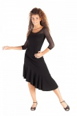So Danca Asymmetric Ruffle Dance Skirt
