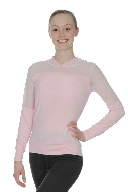 Ballet Rosa Akane Hoodie with Mesh Panel