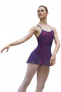 Madelene Ladies Sleeveless Leotard with Tulle Layer Dress