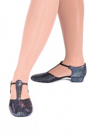 Black Hologram Greek Sandals