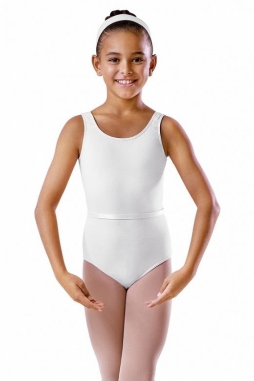 Bloch Cotton Tank Exam Leotard with Belt