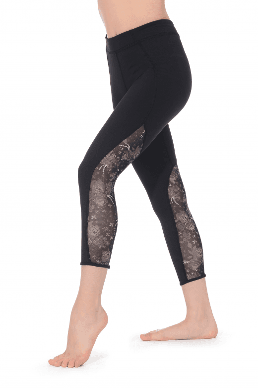 Bloch Girls' Floral Calf Length Leggings