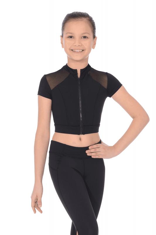 c95f1ac34869 Bloch Girls Black Dance Crop Top   High Neck Style (FT5128C)