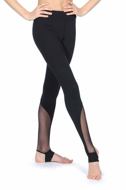 c221c022dfc28 Mesh Insert Girls' Legging from Bloch | Dancewear Central