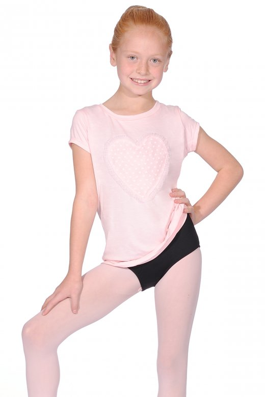 Bloch Zofia Girls' Short Sleeve Dance Top