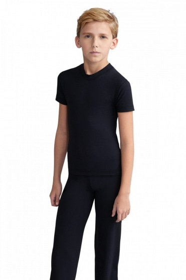 Boy's Tactel Fitted Crew Neck T-Shirt