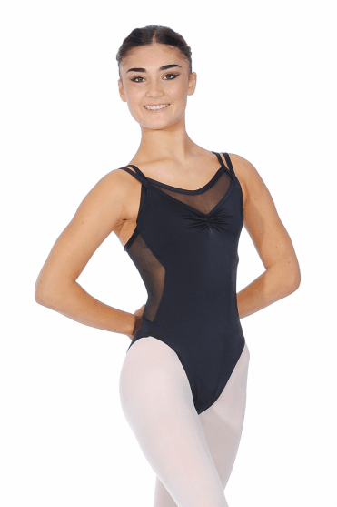 Camisole Layered Mesh Leotard