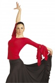 Capezio Long Sleeve Top with Bow Back Design