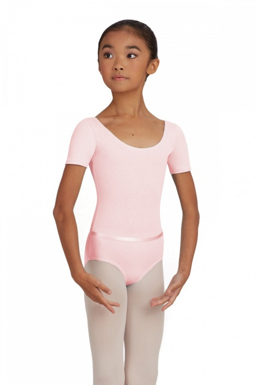 Capezio Short Sleeve Children's Leotard with Belt