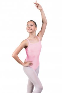 Chantal Girls' Sleeveless Leotard