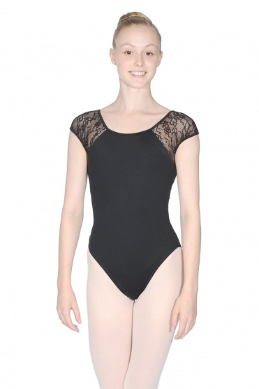 Chiwa Button Back Lace Leotard