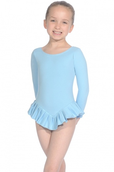Cotton Long Sleeve Frilly Leotard