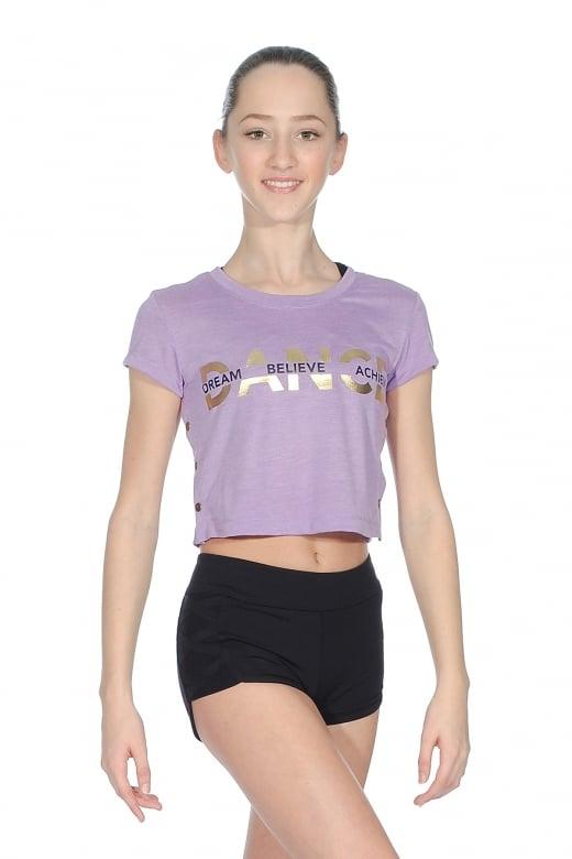 Crop T-Shirt for Girls from Bloch | Dancewear Central