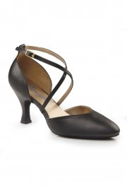 Cross Strap Leather Ballroom Shoes