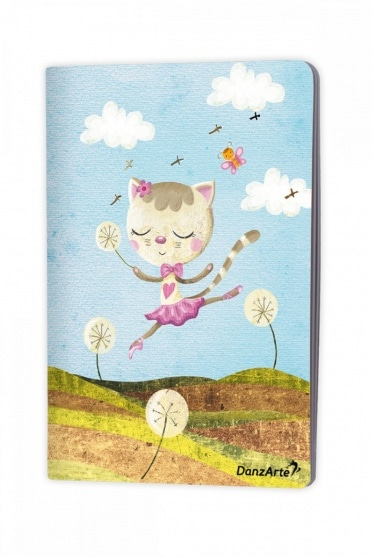 Dancing Cat A5 Notebook
