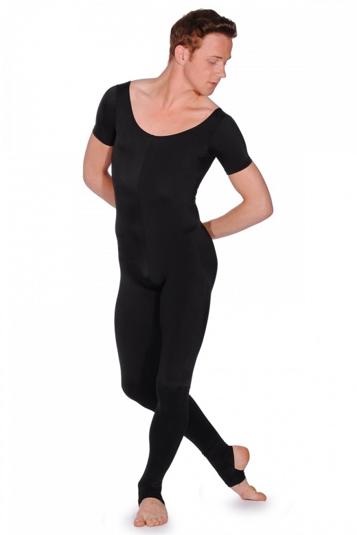 Dansez Men's Short Sleeve Unitard with Stirrup Leggings