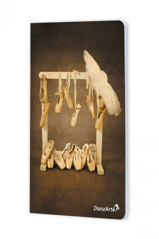 Danzarte Hanging Pointe Shoes A6 Notebook