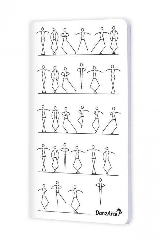 Danzarte Stick Figures Dancing A6 Notebook