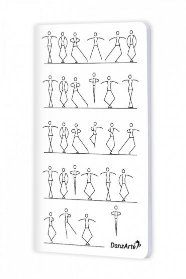 Stick Figures Dancing A6 Notebook