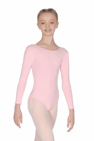 Donna Cotton Long Sleeve Children's Leotard