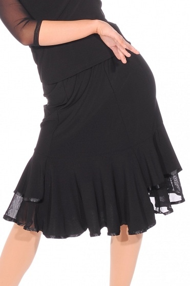 Double Fluted Ballroom/Latin Skirt