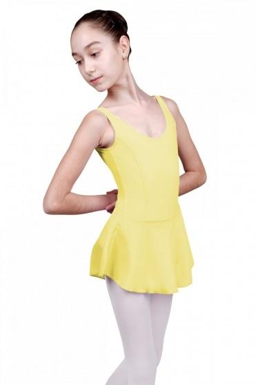 Fiona Girls' Tank Leotard with Skirt