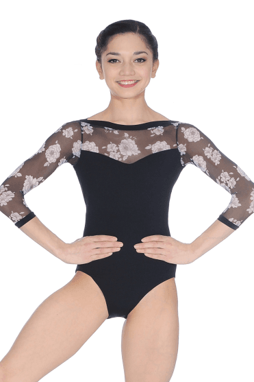 Floral Sleeve Leotard