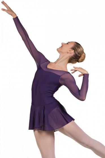 Francesca Long Sleeve Ladies' Leotard with Skirt