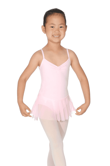 Girls' Camisole Leotard With Skirt