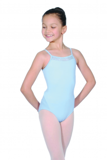 Girls Diamante Cami Leotard