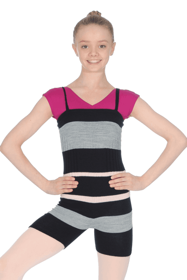 Girl's Knitted Warm Up Playsuit