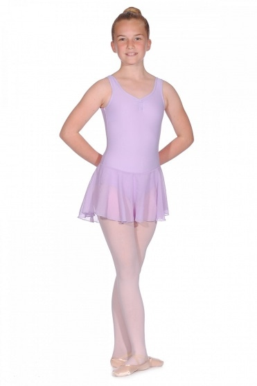 Girls' Leotard with Integrated Skirt