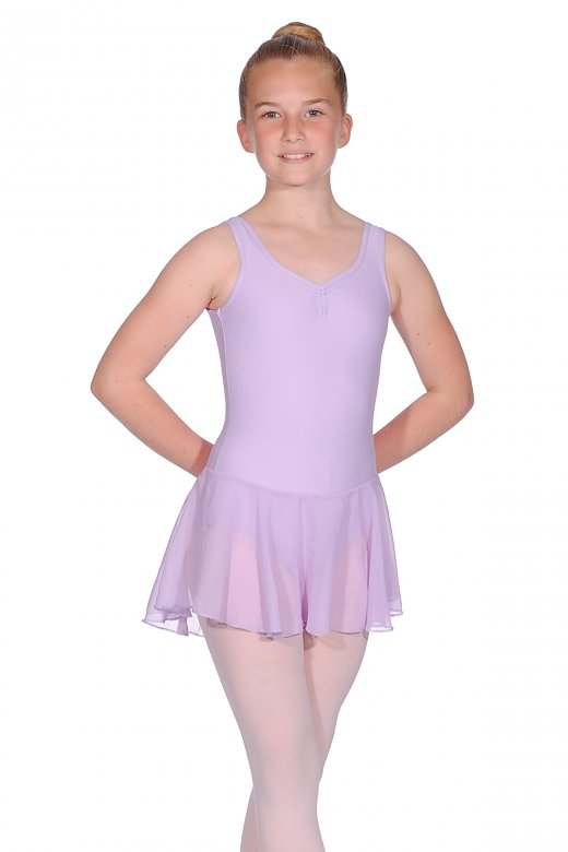 Repetto Girls' Leotard with Integrated Skirt