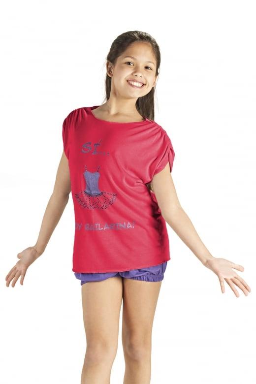 So Danca Girls' Loose Fit Tutu T-Shirt
