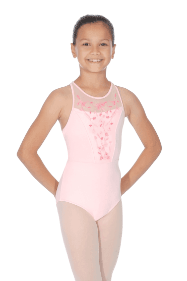 Girls' Mesh Bodice Leotard