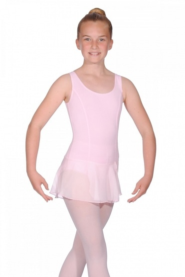 Girls' Tunic Leotard with Skirt