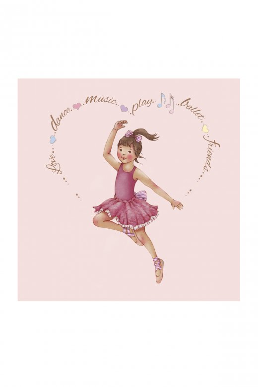 Little Ballerina Heart Amelia Greetings Card