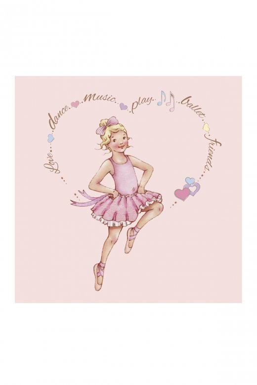 Little Ballerina Heart Melissa Greetings Card