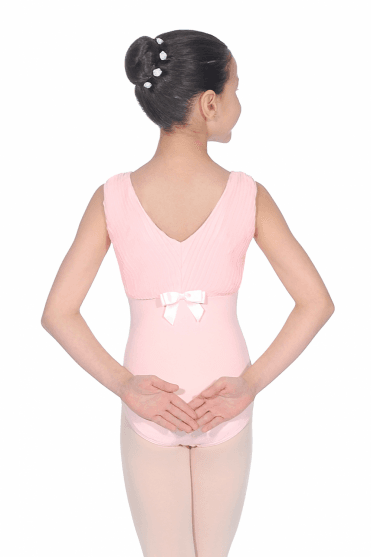 High Neck Pleated Leotard