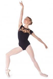 Bodymertatu Ma Cap Sleeve Leotard